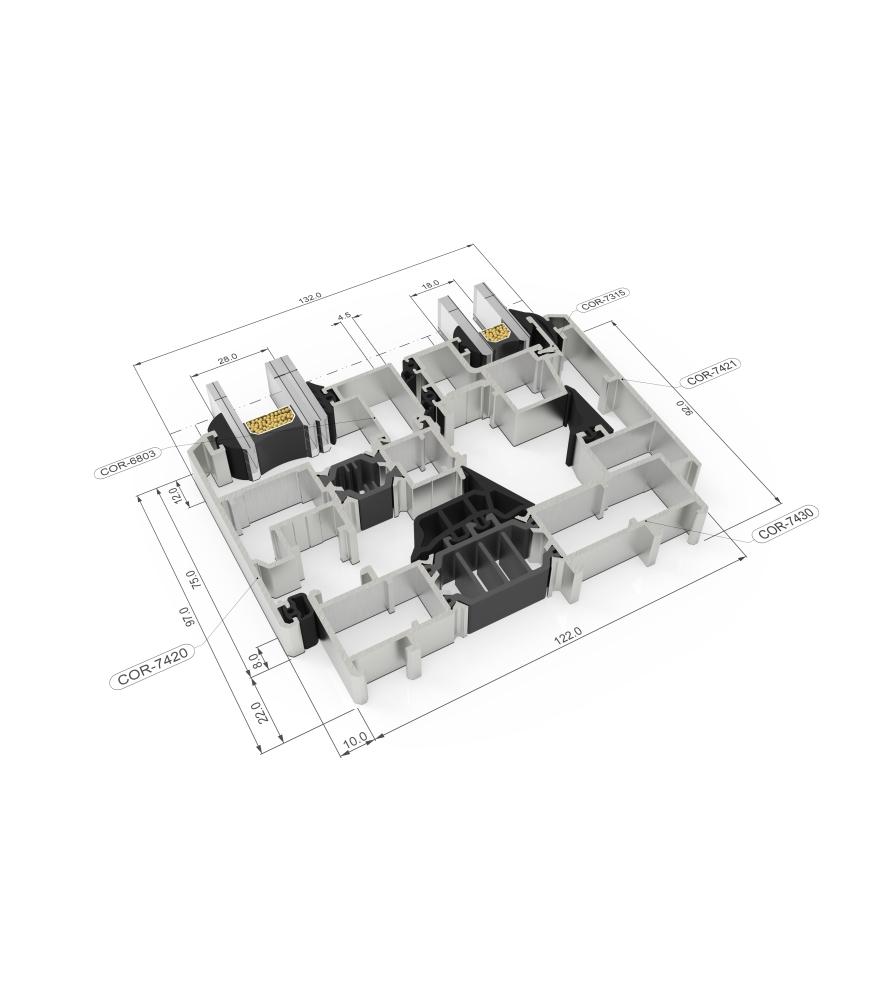 Sección del sistema Cor Urban C16 RPT